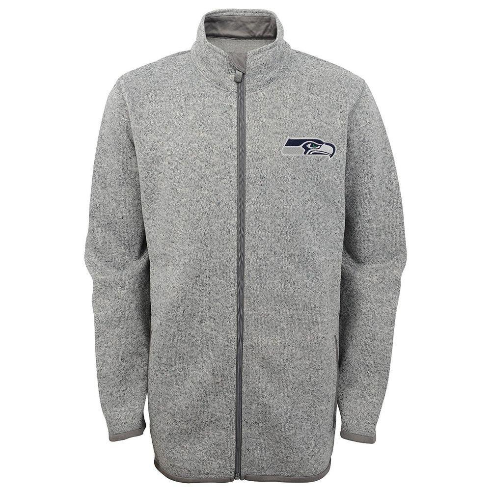 best loved 73aee a95e8 NFL Settle Seahawks Youth Boys Full Zip Sweater Knit Fleece ...