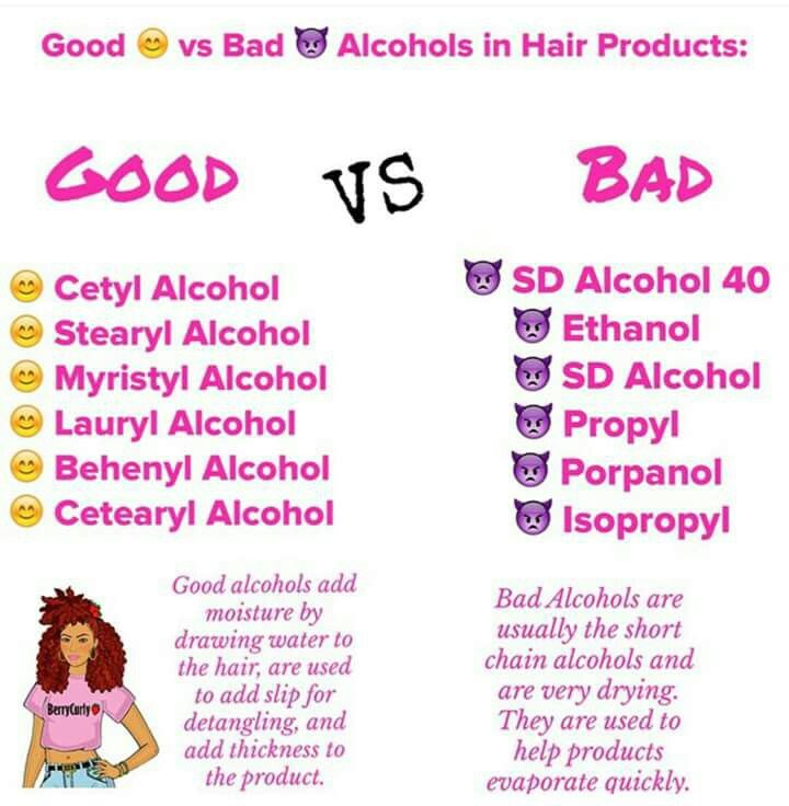 Good alcohol for hair