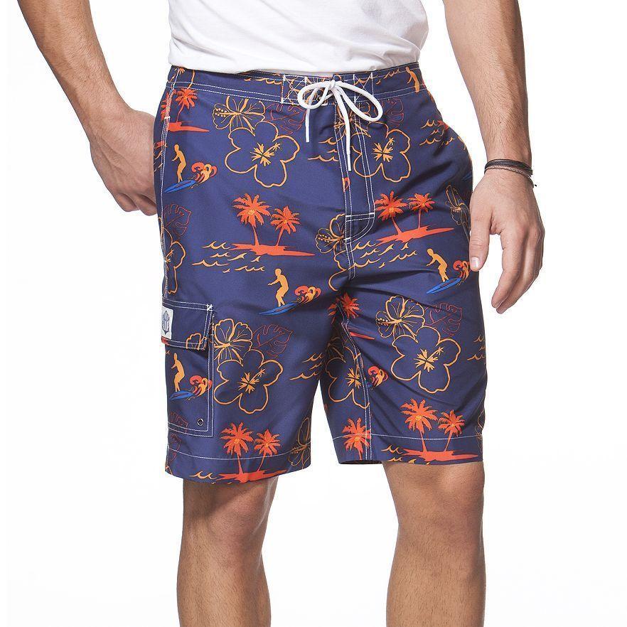 Chaps Tiki Hut Large Mens Board Shorts Swim Trunks W/ Built in ...