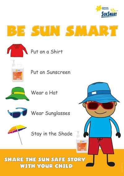 Examples Of Posters Health And Safety Sun Safety Activities