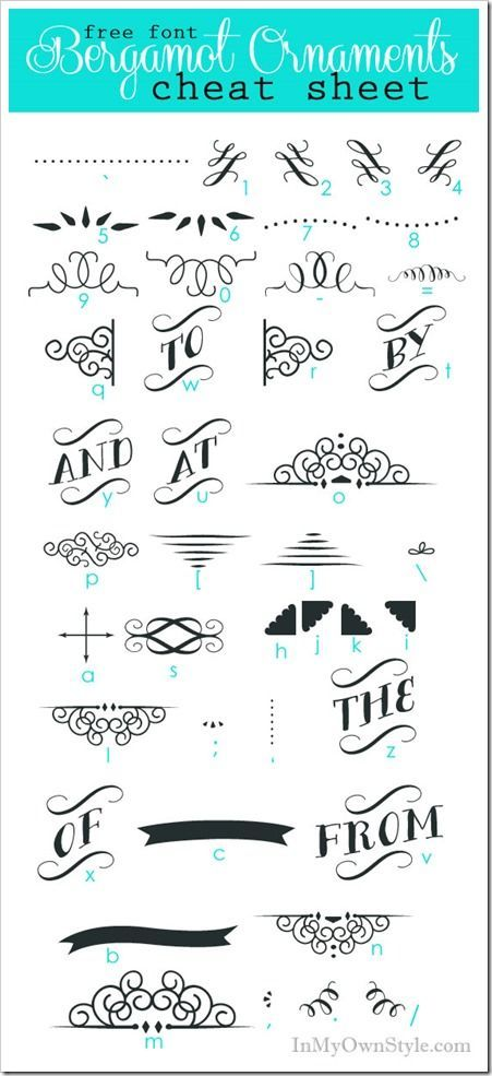 Bergamot Ornaments Character Map  Diy Ideas