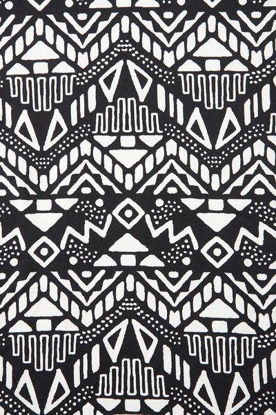 Women's Black Sleeveless Aztec Bodycon Dress | Aztec ... - photo#18