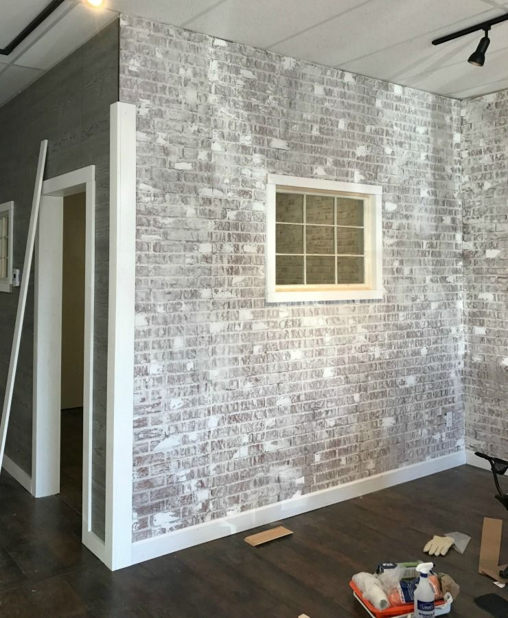 Use Venetian Plaster To Add Texture To Your Faux Brick Wall But Don T Put It On Every Brick Diy Faux Brick Wall Fake Brick Wall Faux Brick Walls