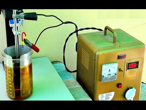 Electrolytic gold  recovery Gold Electrolysis  extracting gold