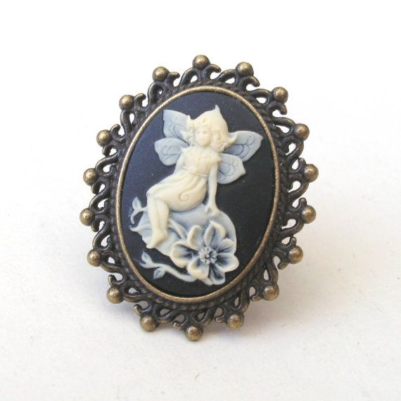 Fairy cameo ring in antique bronze by temporalflux 1200 fairys fairy cameo ring in antique bronze by temporalflux 1200 aloadofball Gallery