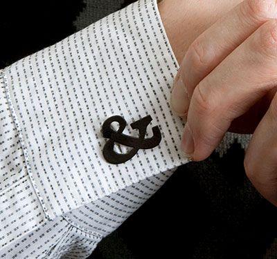 Ampersand Cufflinks: way cool.