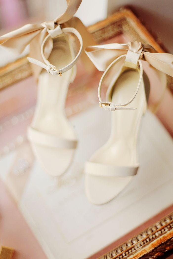 Bows on shoes, White, Cream, ivory, gold, blush, wedding shoes