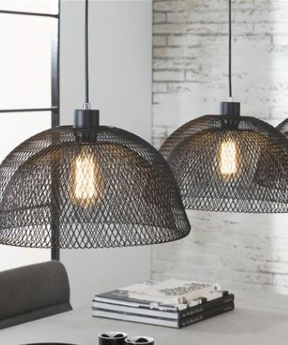 suspension industrielle grise 3 lampes arwen luminaire en 2018 pinterest suspension. Black Bedroom Furniture Sets. Home Design Ideas