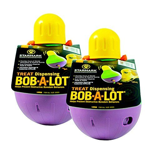 Interactive Dog Toys StarMark Bob-A-Lot Interactive Dog Toy – Large-2 Pack