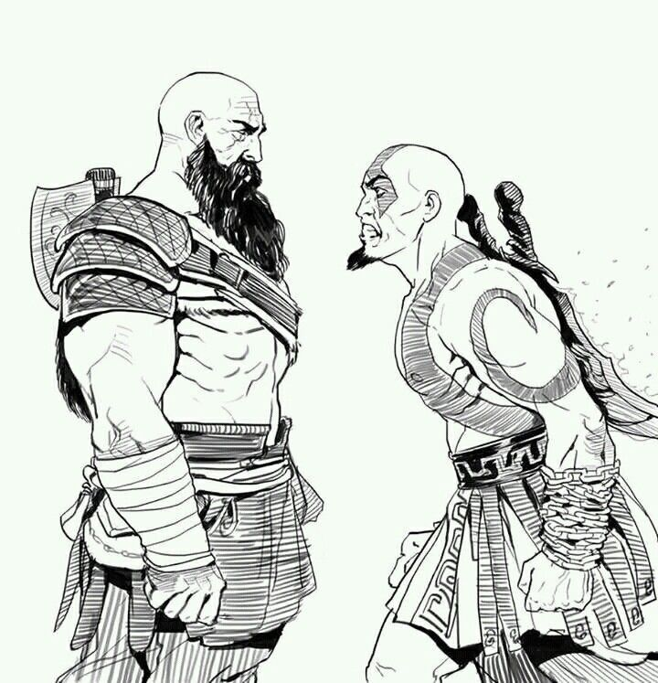 Old Kratos Vs Young Kratos