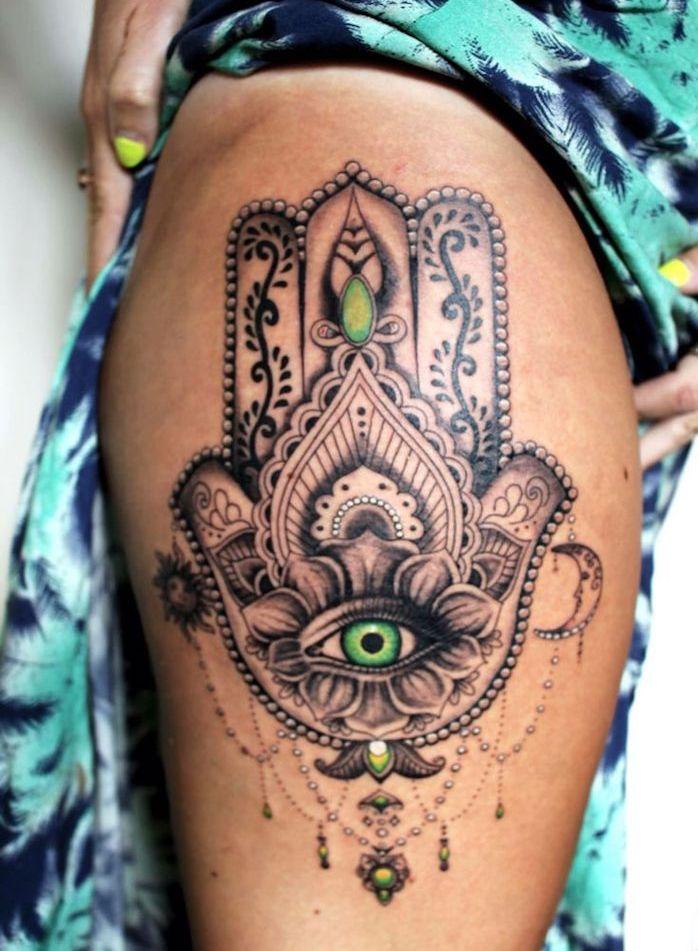 Tattoo Cuisse 48 Tatouages De Caractere Le Portefeuille Magique