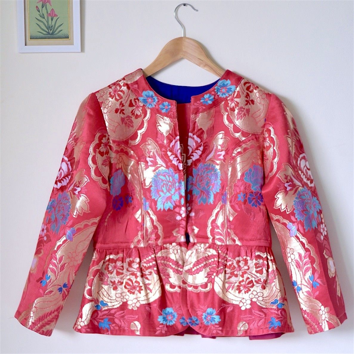 Pink Brocade Silk Jacket Indian Wedding Wear