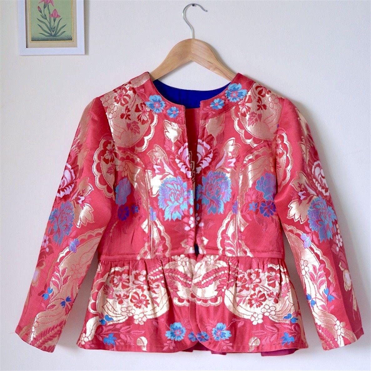 Pink Brocade Silk Jacket Indian Wedding Wear
