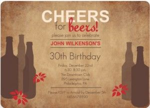 30th birthday invitation wording ideas httpwww easily customize this rustic beer bachelor party invitation design using the online editor all of our bachelor party invitations design templates are fully stopboris Image collections
