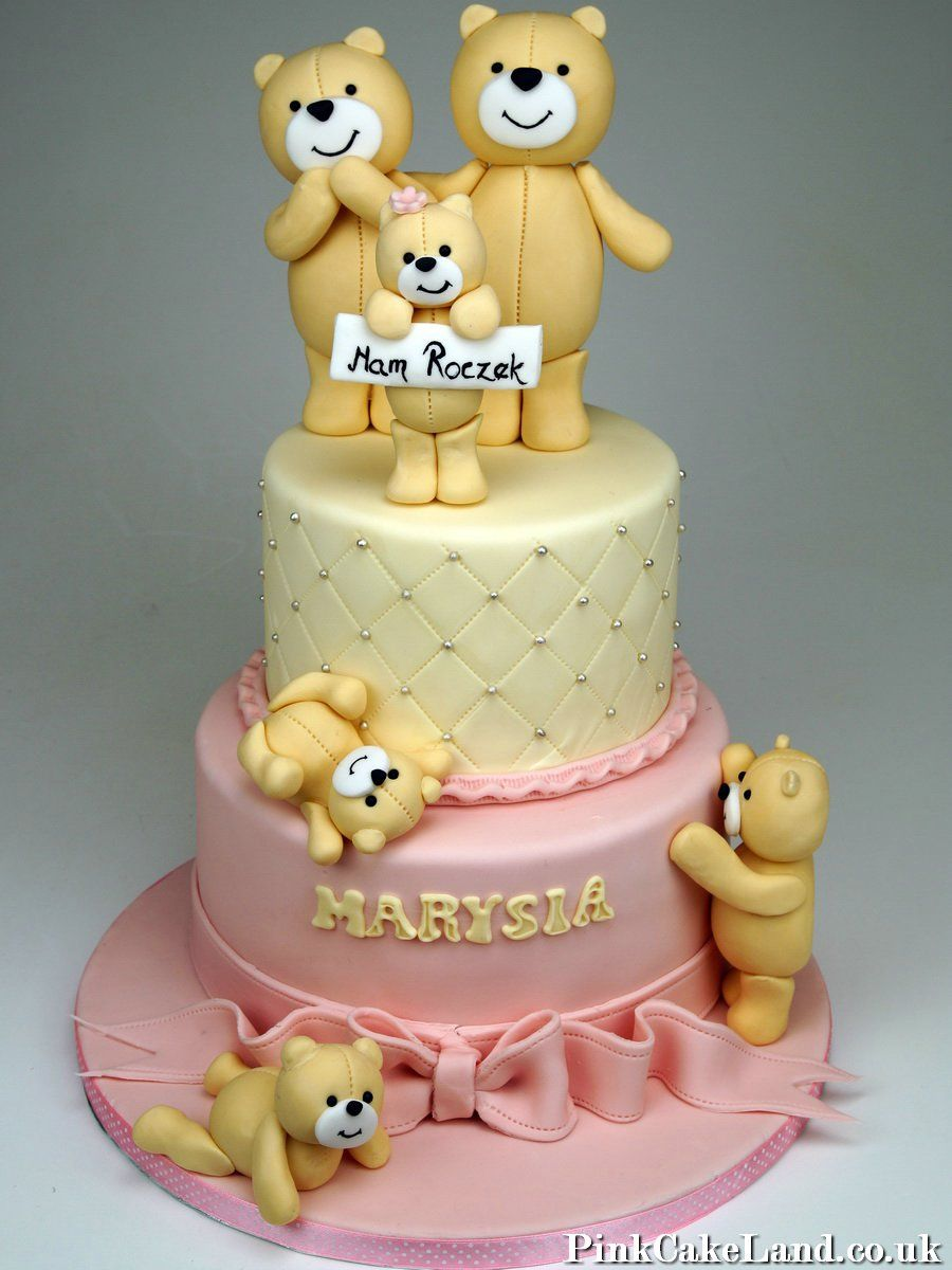 1st Birthday Cake Teddies Cake Teddies Cake 1stbirthday