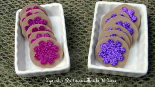 Doll Craft Sugar Cookies- fun foam and stickers #americangirldollcrafts