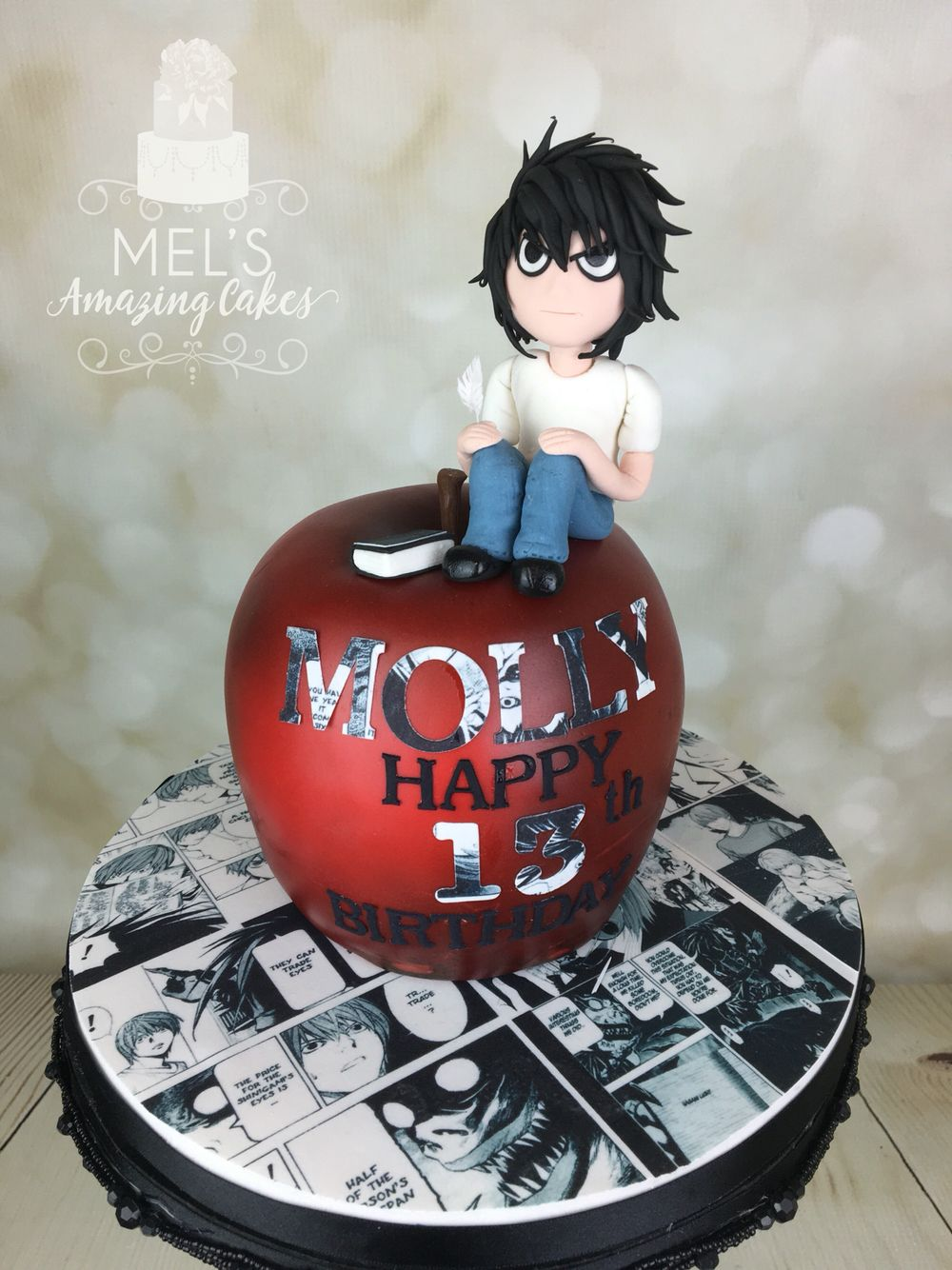 The Death Note Anime Birthday Cake Desserts Pinterest Death