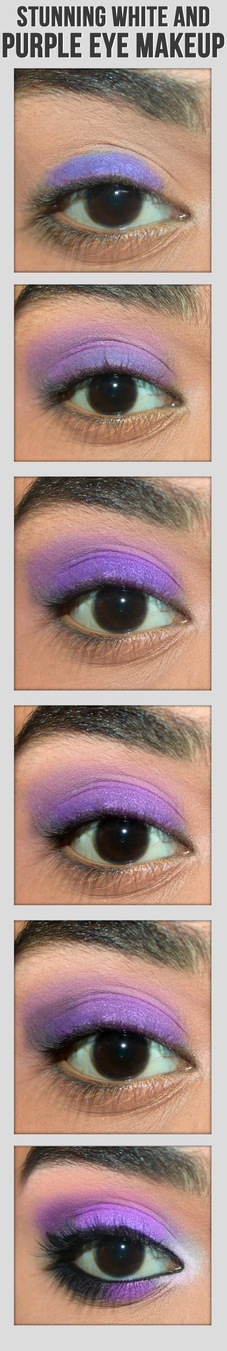 2 Simple Purple Eye Makeup Tutorials With Pictures Purple Eye