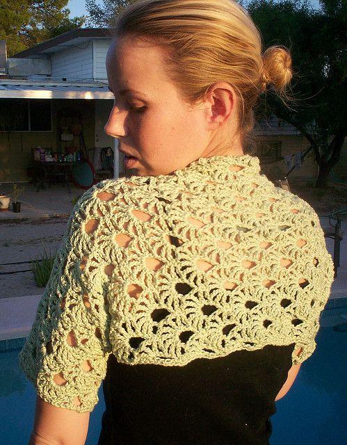 How Lovely Maui Crochet Shrug Free Pattern Haken Pinterest