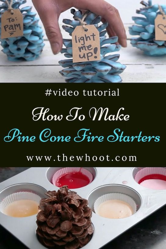 Pine Cone Fire Starters How To Make Them Video #craftstomakeandsell