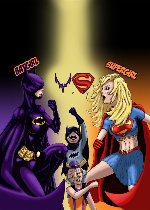 Batgirl Vs Supergirl By Howwwwl On Deviantart Batgirl