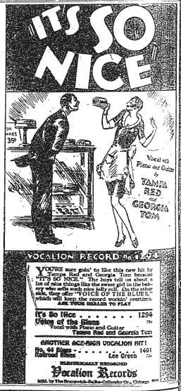 vocalion ad it 39 s so nice tampa red georgia tom phonographics guitar tips piano. Black Bedroom Furniture Sets. Home Design Ideas