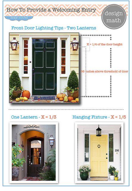 Front Door Lighting Tips The Rules Front Door Lighting Exterior Light Fixtures Exterior Lighting