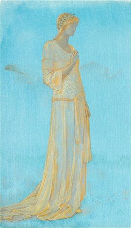 Burn Jones Psyche, 1896, gouache and gold chalk on paper