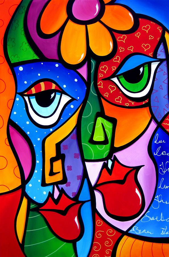 Satisfaction By Tom Fedro Fidostudio Abstract Art Painting Pop Art Colorful Art