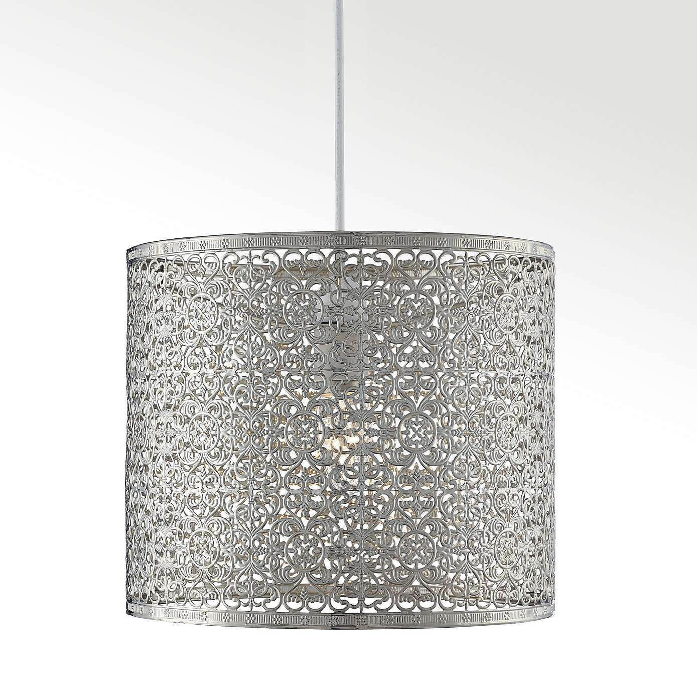 Update Your Interior With Our Web Metal Pendant Stylishly Modern An Intricate Chrome Lace Effect This Light Shade Will Make A Dramatic Decorative