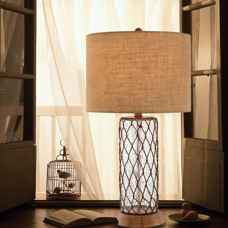 "32"" Buffet Lamp, BIRCH LANE, 123 Glass table lamp"