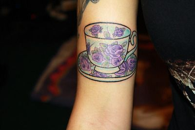 My new teacup tattoo. Done today at Needle Wurks CP.By Glen. He\'s ...