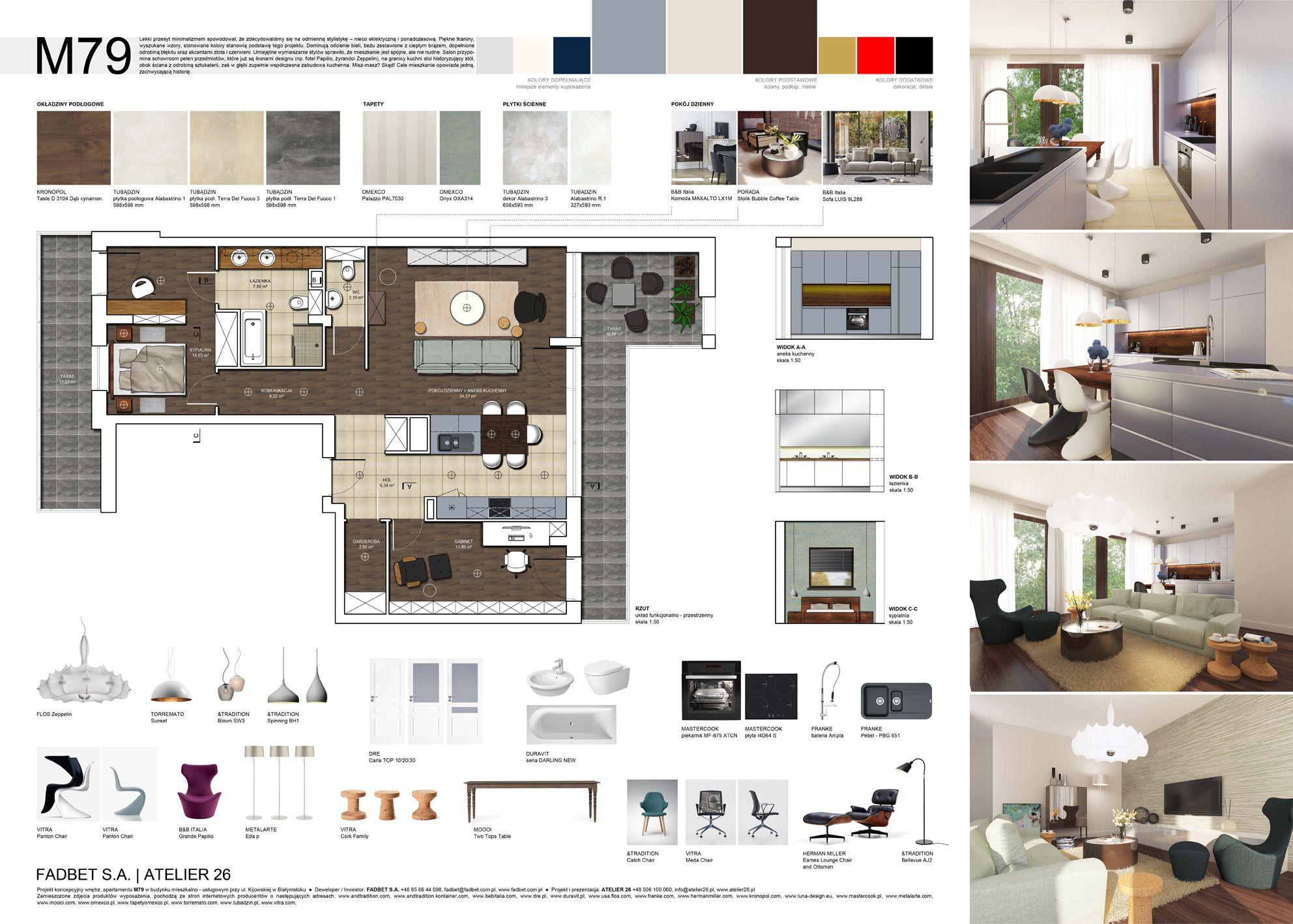 Projekty koncepcyjne wnętrz - ul. Kijowska, Białystok, Apartamenty przy Operze. | http. Interior Design PresentationPresentation ...