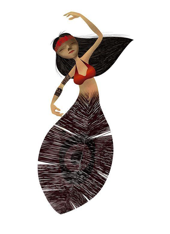 Poster e ilustración Danza