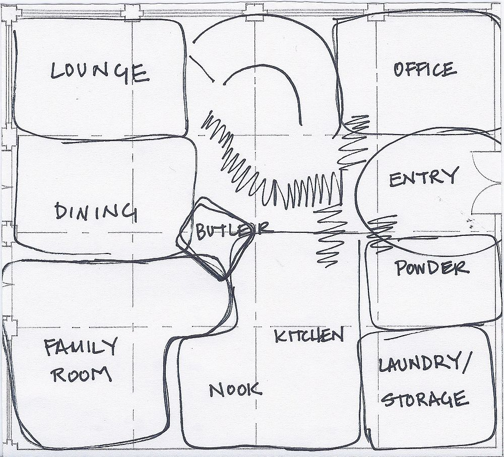 bubble diagram house plan