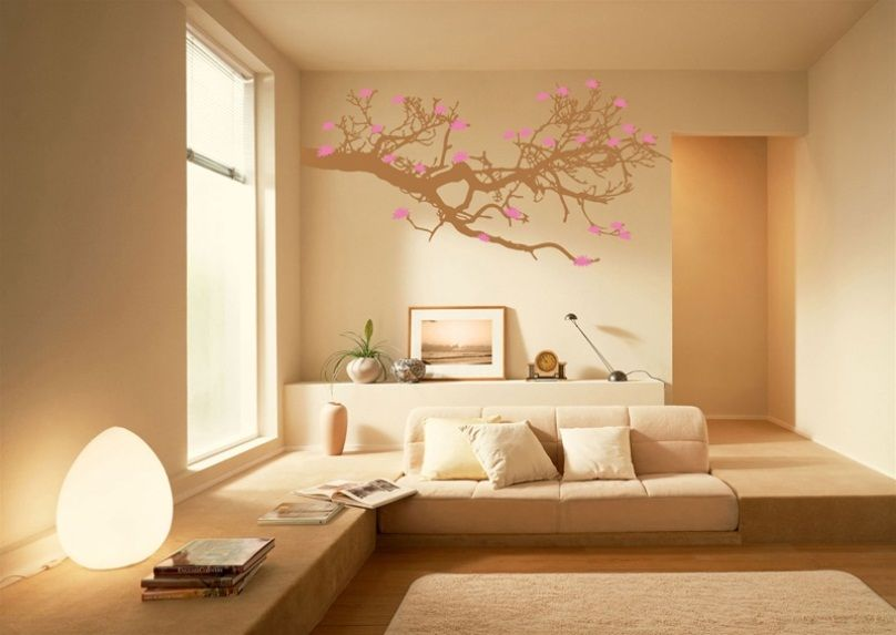 Japanese Living Room Decoration Minus That Wall Decor