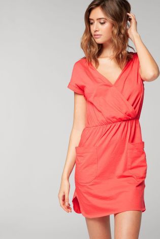 087b07d4c8e7 Buy Coral Cotton Pocket Dress from the Next UK online shop | Summer ...