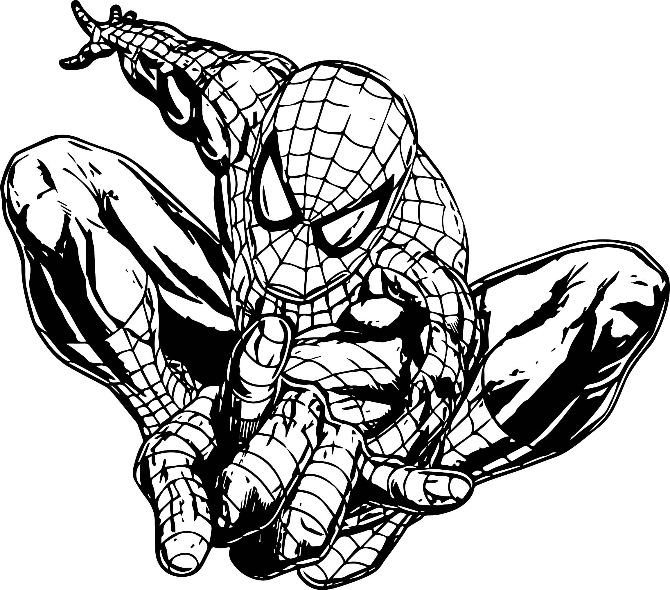 Spider Man One Shot Coloring Page (With images ...