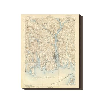 New London 1893 17x22 Map now featured on Fab.