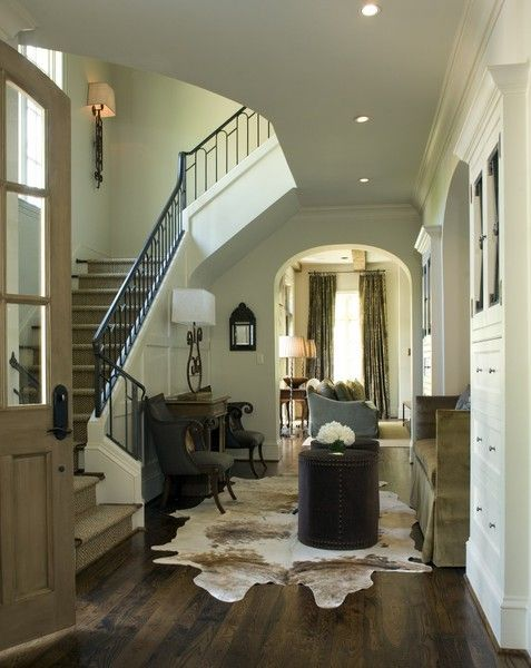 Light Cowhide Rug This In An Entry Is Divine