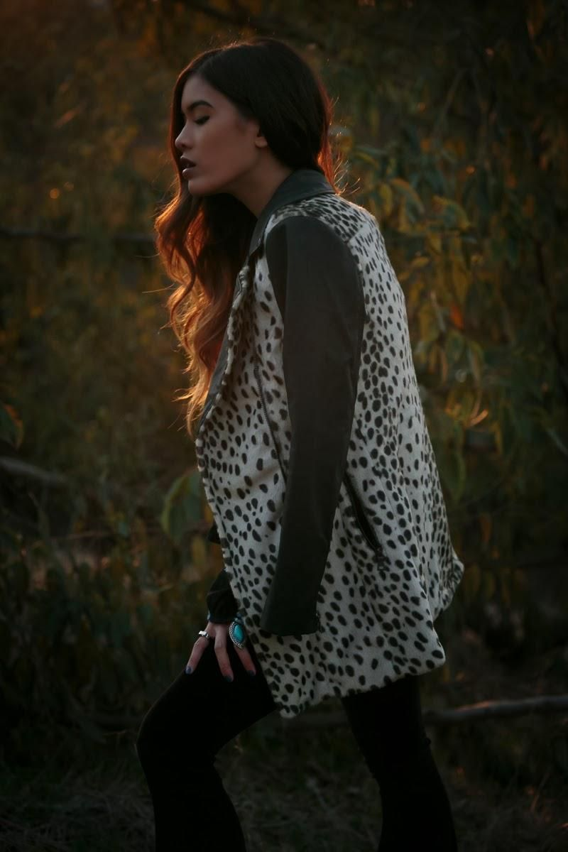 Jill from Little Black Boots in the Wild Thing Faux Fur Coat   (http://www.nastygal.com/product/wild-thing-coat)