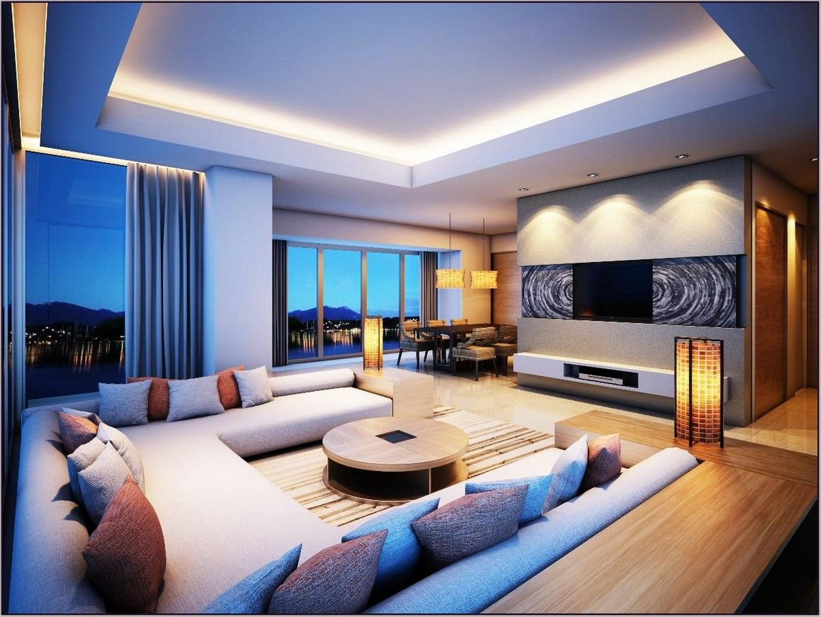 image result for cool living room modern living room on extraordinary living room ideas with lighting id=59602