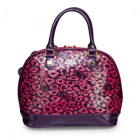 LOUNGEFLY HELLO KITTY PINK LEOPARD EMBOSSED BAG