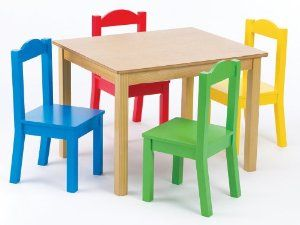 Tot Tutors Kids Table And Set Primary Wood Tot Tutors New 9999 9988 2 Used  New From The Most Wished For In Kids Furniture List For Authoritative  Information ...