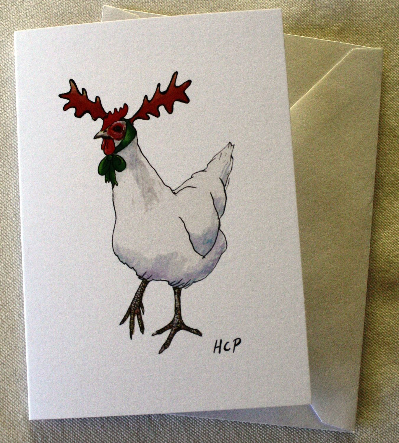 Pack Of 4 Hand Drawn Christmas Cards …