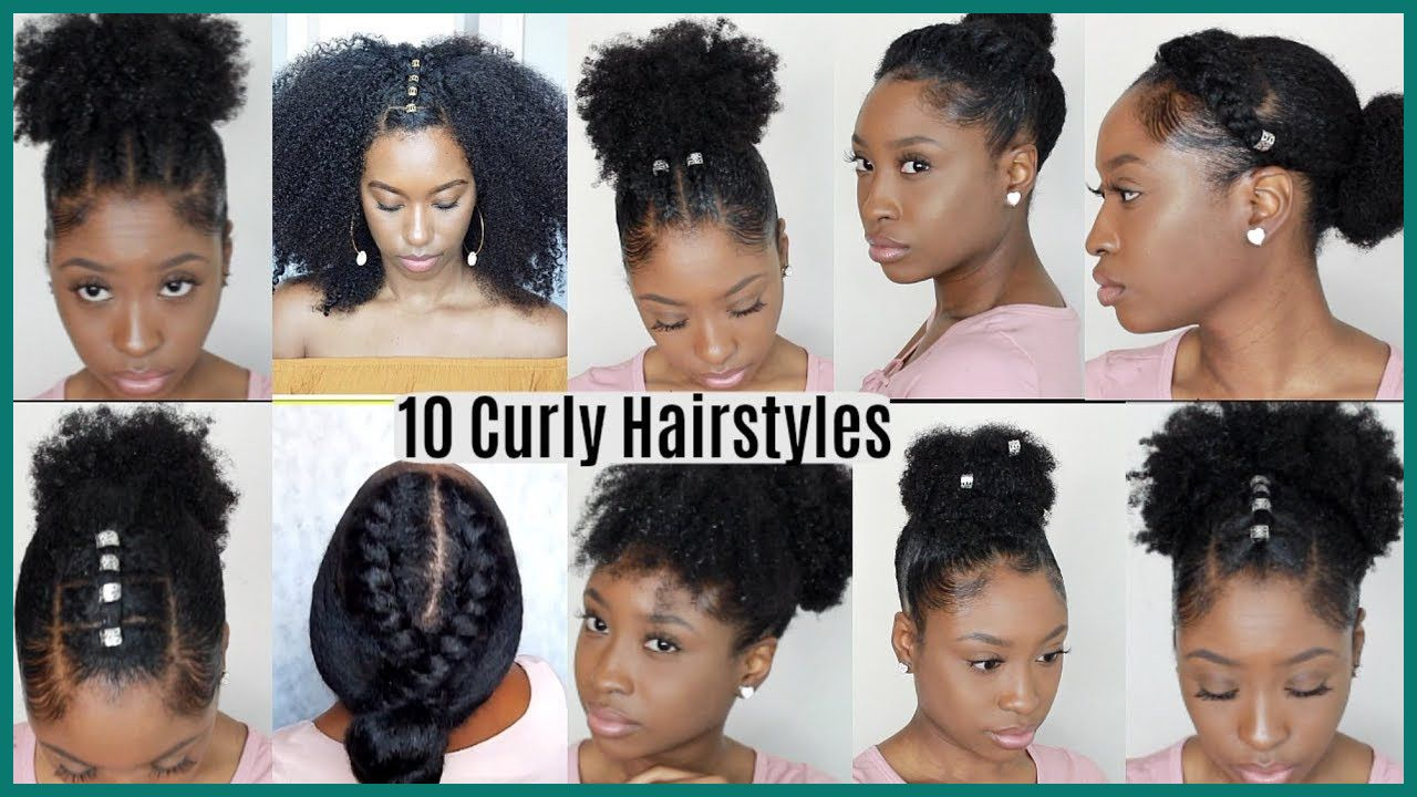 Easy Braided Hairstyles For Natural Curly Hair Hair Makeup In 2020 Natural Hair Styles Easy Easy Hairstyles Easy Hairstyles Quick