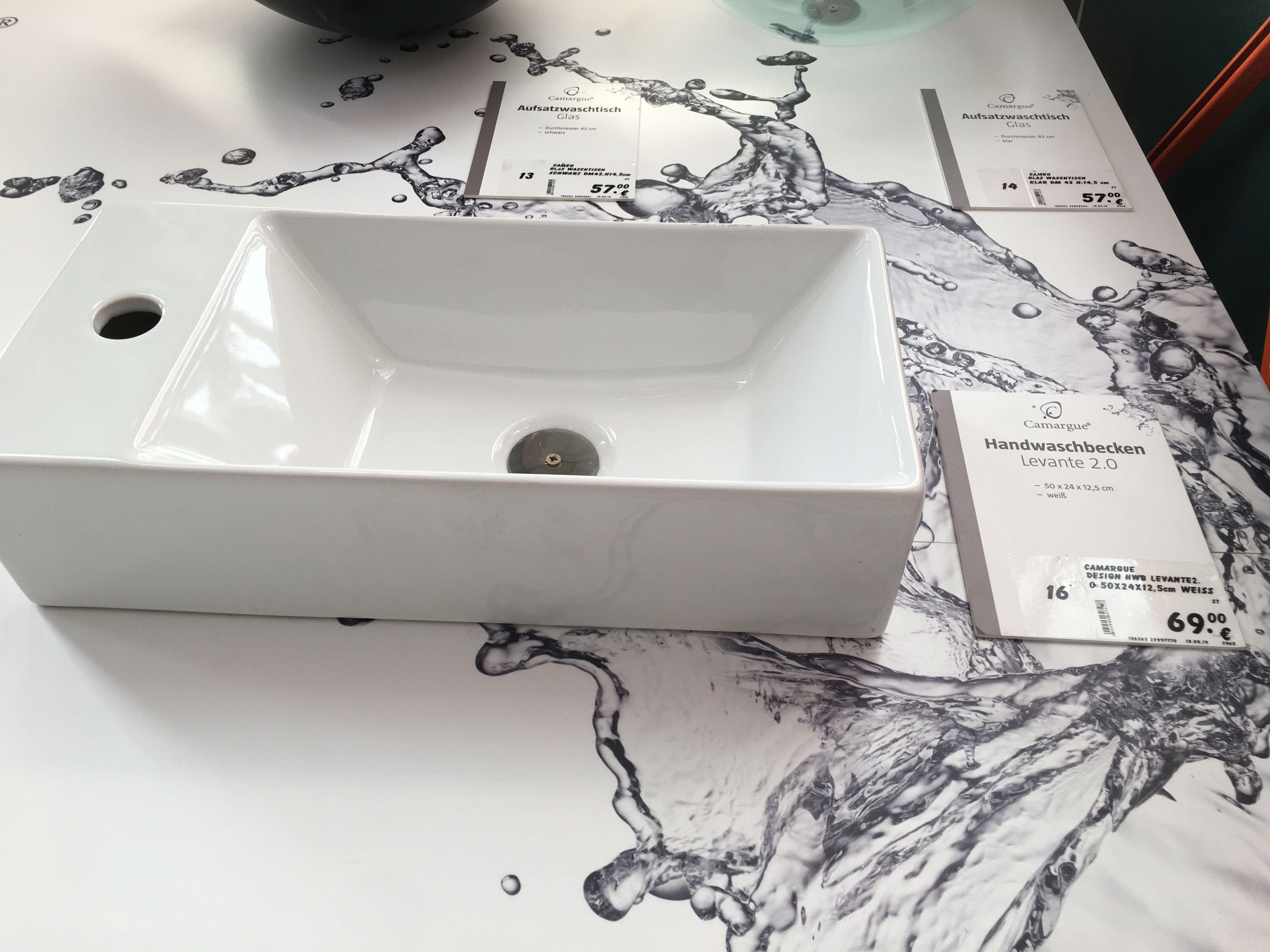 Camargue Aufsatzwaschbecken Levante 2 0 50 X 24 Cm Keramik Weiss In 2020 Aufsatzwaschbecken Aufsatz Bauhaus