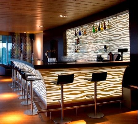 Designed Built Corian Bar Counter