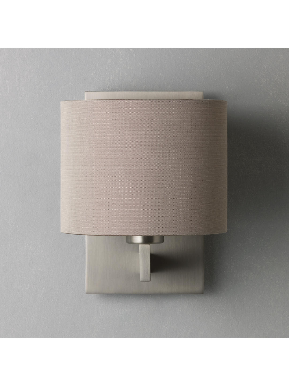 Astro Olan Wall Light With Silk Shade Nickel Oyster Silk Shades Wall