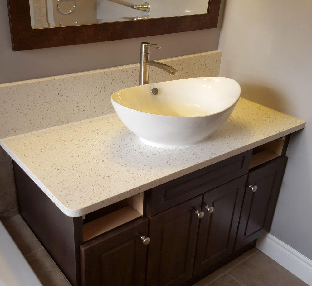 bathroom vanity countertop using iced
